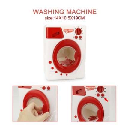 KCJ Red Simulation Home Appliances Play House Educational Pretend Toys For Children